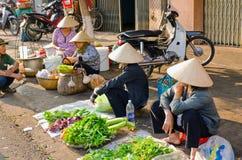 Market  Buon Me Thuot. Market of the city center Buon Ma Thuot, Vietnam Stock Image