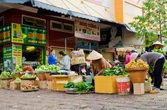 Market Buon Me Thuot. Market of the city center Buon Ma Thuot, Vietnam Royalty Free Stock Photo