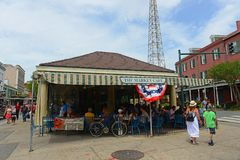 The Market Cafe in French Quarter, New Orleans royalty free stock photo