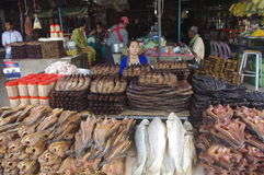 Market in Cambodia. Battambang, south east Asia Stock Images
