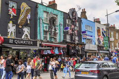 Market in Camden Town, London Royalty Free Stock Photography