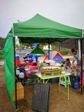 Market of camping item and accessories. First market to sell about camping from Thailand camping group in Thailand royalty free stock image
