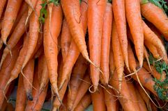 Market carrots Royalty Free Stock Photos