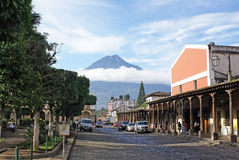 Market on the central square of Antigua Guatemala Royalty Free Stock Photography