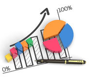 Market chart concept Royalty Free Stock Images
