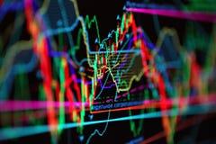 Market chart Stock Image