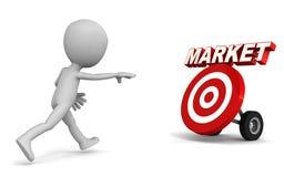 Market chase Royalty Free Stock Photography