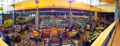 Market of Choice Interior Panorama Eugene, OR Stock Photo