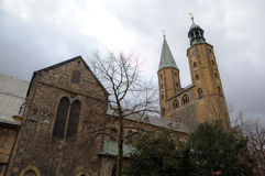 Market Church (Marktkirche) of St. Cosmas and Damian. Goslar Stock Photo