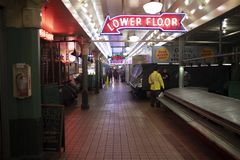 Pike place market after closing time royalty free stock image