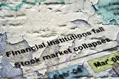 Market collapses Royalty Free Stock Photos