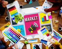 Market Consumerism Marketing Product Branding Concept stock photography