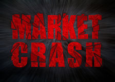 Market Crash. Financial concept suitable for sudden declines in a variety of markets from stocks and commodities, to currency and real estate Stock Photography