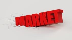 Market crash Royalty Free Stock Photo