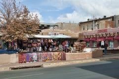 Market in the creative city of Santa Fe New Mexico USA royalty free stock image