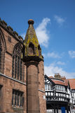 Market Cross and the Rows in Chester the county city of Cheshire in England. Much of the architecture of central Chester looks medieval and some of it is but by royalty free stock photos