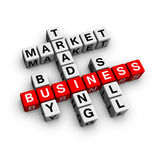 Market crossword. Trading business (from crossword series Stock Photos