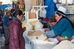 Market in Cusco, Peru Royalty Free Stock Photos