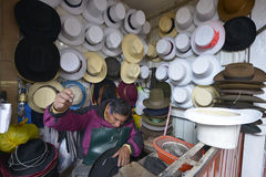 Market, Cuzco, Peru. CUZCO, PERU - SEPTEMBER 12: Unidentified people at the Cuzco market on September 12, 2015 in Cuzco, Peru Stock Images
