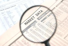 Market Data Royalty Free Stock Photos