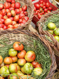 Market day. Fresh vegetables on a street market Stock Images