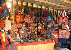 Market day in Antigua Guatemala. Street market in Antigua Guatemala Central America where the locals come to sell their products Stock Image