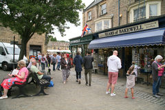 Market day at Bakewell. Stock Image