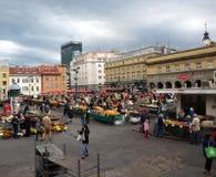 Market Day. At Dolac,  Zagreb Croatia Stock Image