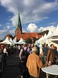 Market Day in Eutin Germany Royalty Free Stock Image