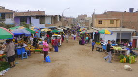 Street Market in South America Royalty Free Stock Photos