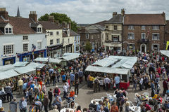 Market Day - Malton - Yorkshire - England. Market day in the busy North Yorkshire town of Malton in northeast England Stock Photography