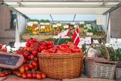 The Market Day. At Sanderumglard in Denmark Royalty Free Stock Image