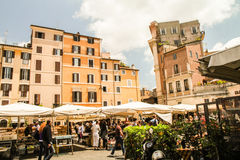 Market day. On Piazza Navona at Roma Stock Images