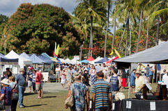 Market day in Port Douglas Royalty Free Stock Photos