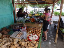 Market day at port elizabeth, bequia. Royalty Free Stock Images