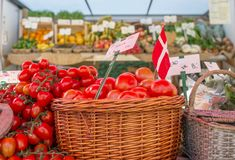 The Market Day. Shot at Sanderumgaard in Denmark Royalty Free Stock Image