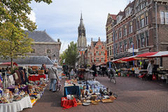 Market in Delft, Holland Stock Photo