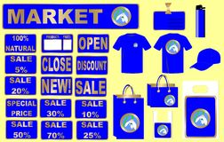 Market design set vector Royalty Free Stock Photography