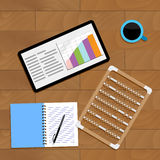 Market diagram and infochart. Vector finance tablet presentation graph illustration Royalty Free Stock Image