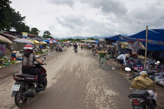 Market in Dien Bien Phu Stock Photography