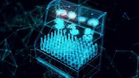 market display hologram Close up