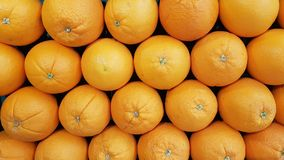 Market display of oranges royalty free stock photos