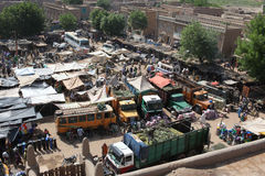 Market in Djenne, Mali. Most famous market of west africa is in Djenne Stock Photography