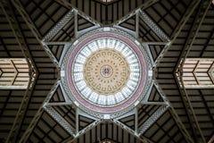 Market Dome. In Valencia, Spain stock photos