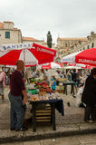Market of Dubrovnik. DUBROVNIK, CROATIA - MAY 16, 2013: Busy day at Dubrovnik's market. On 16 May 2013 in Dubrovnik, Croatia Stock Images