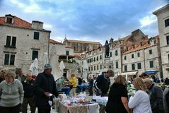 Market in Dubrovnik, Croatia Royalty Free Stock Images