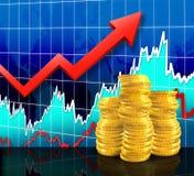 Market Earnings. Digital Illustration concept of earnings in the Stock Market royalty free illustration