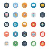Market and Economics Color Isolated Vector Icons Set that can be easily modified or edit stock illustration