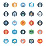 Market and Economics Color Isolated Vector Icons Set that can be easily modified or edit vector illustration