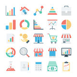 Market and Economics Colored Vector Icons 1 Stock Photos